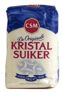 suikerkorrels in pak suiker