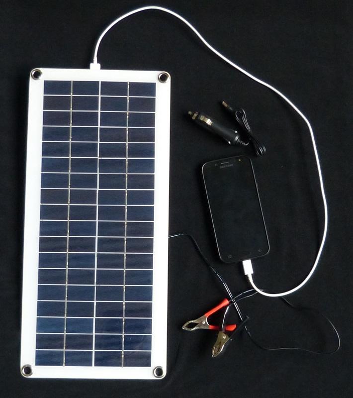 zonnepaneel accu auto/motor