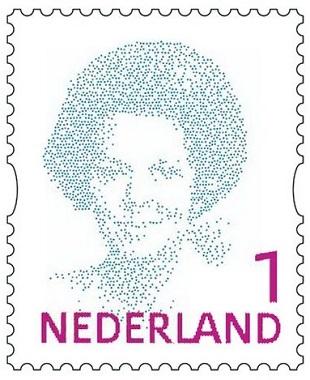 beatrix 1 postzegel