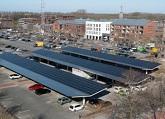 zonnepanelen parkeerterrein